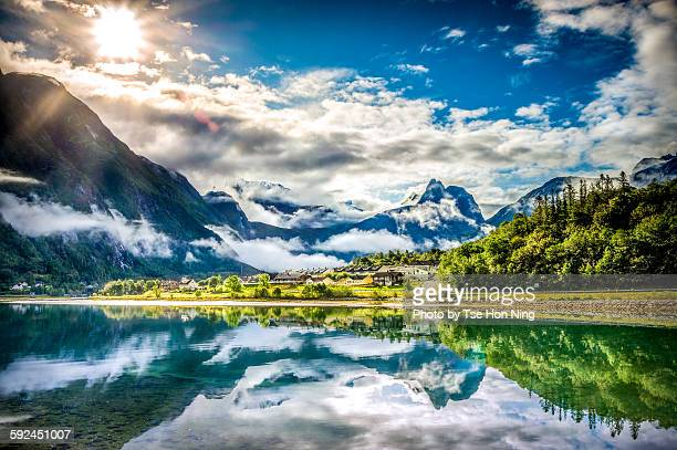 Sunshine after rain in Andalsnes