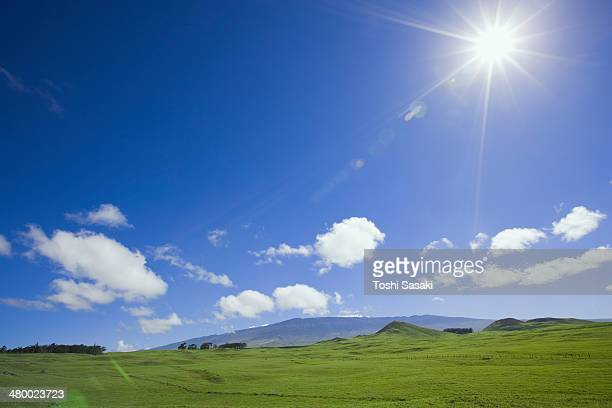Sunshine and clouds above the prairie