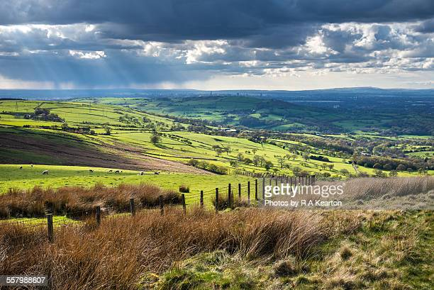 Sunshine and showers in an English landscape