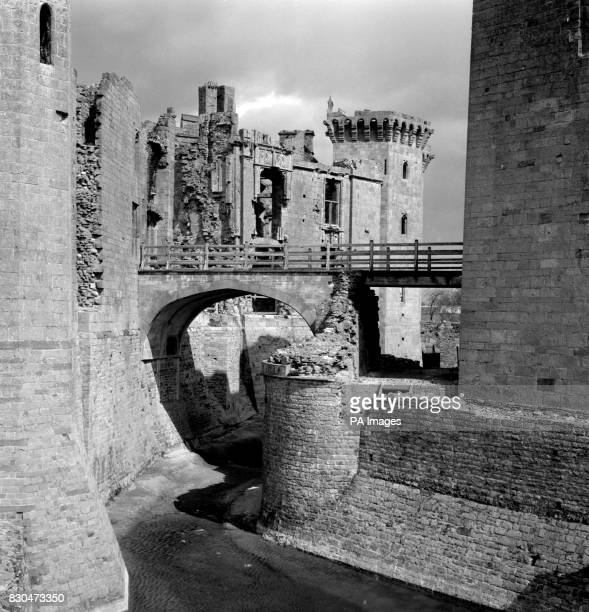 Sunshine mellows the battlements of Raglan Castle Monmouthshire The fortress dates from the 15th century In 1646 during the Civil War the Marquess of...