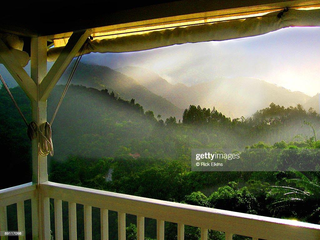 Sunshower in Jamaica