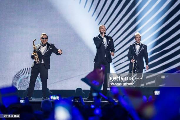 Sunstroke Project the contestant from Moldova performs at the Eurovision Grand Final on May 13 2017 in Kiev Ukraine Ukraine is the 62nd host of the...