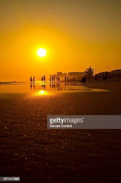 Suntet on the beach