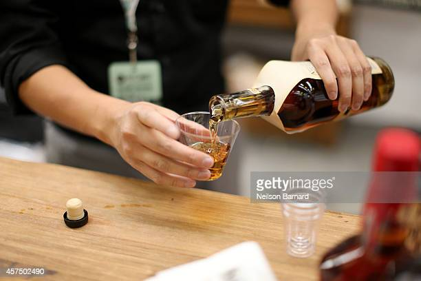 Suntory whiskey products on display at the Grand Tasting presented by ShopRite featuring KitchenAid® culinary demonstrations presented by MasterCard...