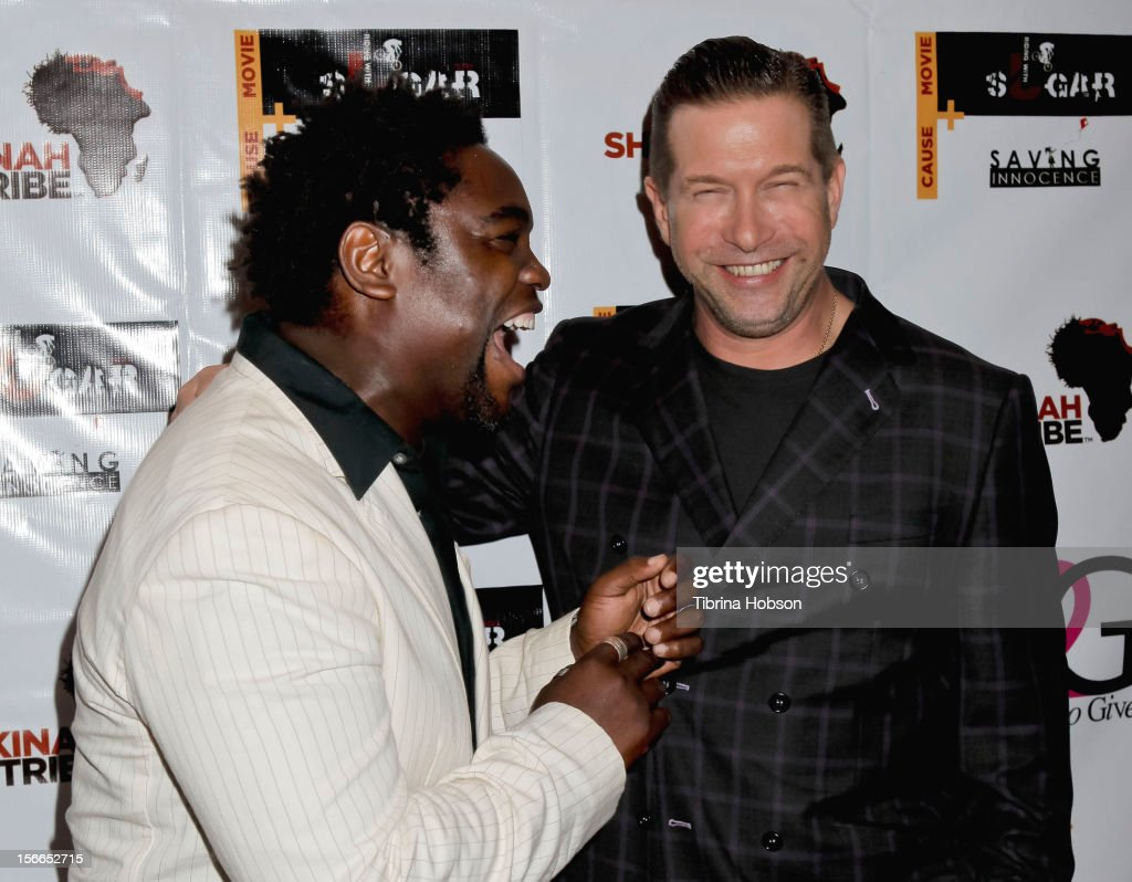 Sunu Gonera and <a gi-track='captionPersonalityLinkClicked' href=/galleries/search?phrase=Stephen+Baldwin&family=editorial&specificpeople=213776 ng-click='$event.stopPropagation()'>Stephen Baldwin</a> attend the Shekinah Tribe charity film fundraiser hosted by Pattie Mallette at Writers Guild Theater on November 17, 2012 in Beverly Hills, California.