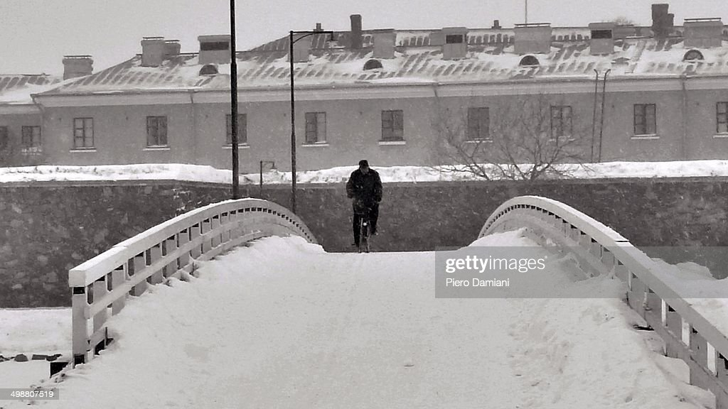 Suomenlinna in winter : Stock Photo