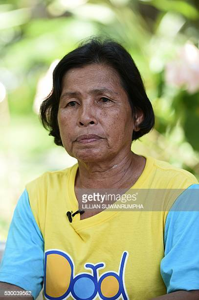 Supap Kamlae talks about the disappearance of her husband Den Kamlae in Bangkok on May 10 2016 Supap Kamlae says her 65yearold husband Den a...