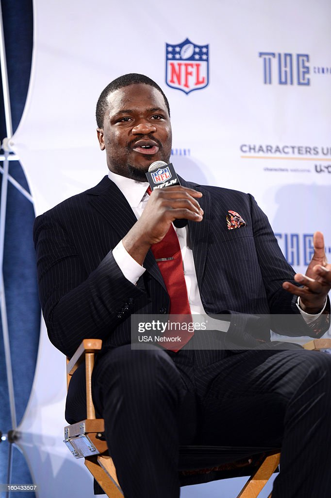 UNITE -- Super Bowl Press Conference -- Pictured: Jameel McClain --