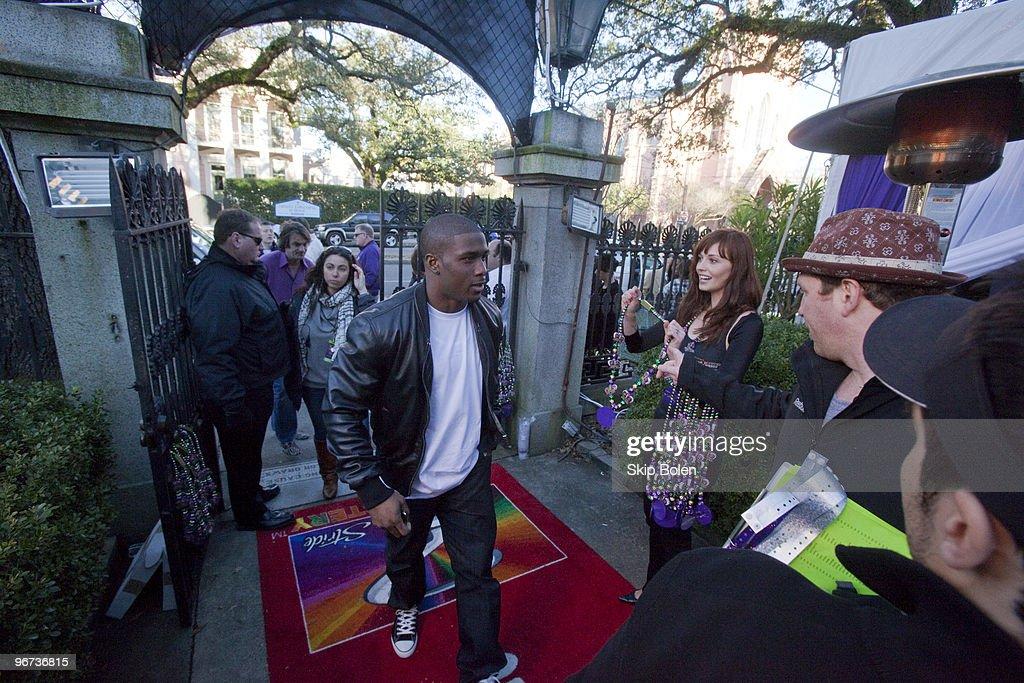 Super Bowl XLIV winner and New Orleans Saints Runningback Reggie Bush attends Maxim's Mega Mansion at Buckner Mansion on February 15, 2010 in New Orleans, Louisiana.