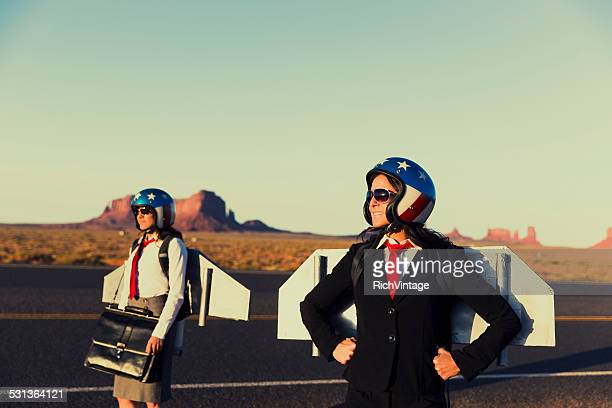 Super Business Team in Monument Valley