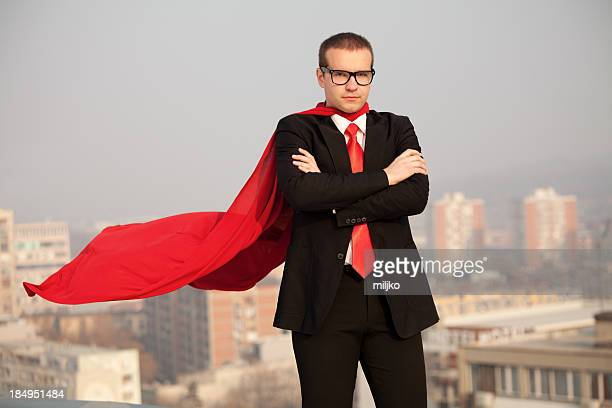 Super businessman ready to help
