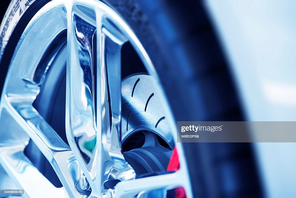 Super Car Ventilated Brakes : Stock Photo