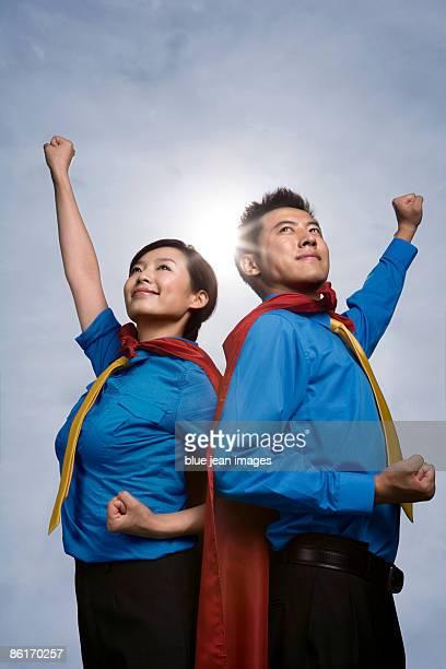 Super Corporate Man and Woman, A Super Team
