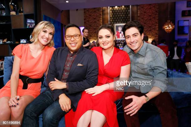 NIGHT 'Super Duper Store Night' Episode 502 Pictured Contestant Nico Santos Lauren Ash Ben Feldman
