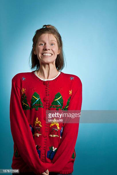 Super Excited Sweater Girl