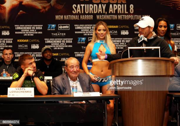 Super Featherweight boxer Jason Sosa speaks during a Top Rank Championship Boxing Press Conference on April 06 at MGM National Harbor in Oxon Hill MD