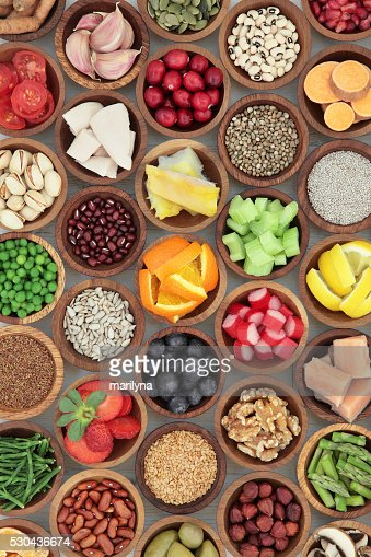 Super Essen Diät-Auswahl : Stock-Foto