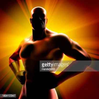 Super hero - silhouette