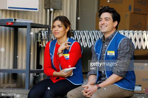 SUPERSTORE 'Super Hot Store' Episode 215 Pictured America Ferrera as Amy Ben Feldman as Jonah
