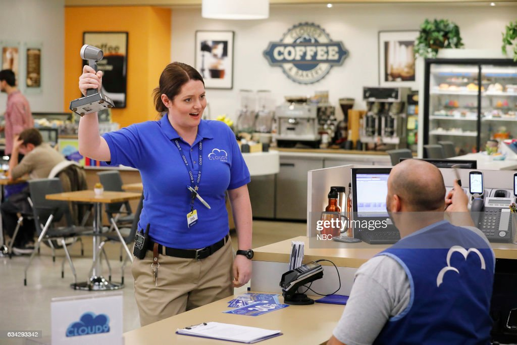 SUPERSTORE -- 'Super Hot Store' Episode 215 -- Pictured: (l-r) Lauren Ash as Dina, Colton Dunn as Garrett --