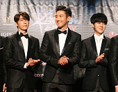 Super Junior attend KCON 2015 at the Los Angeles Convention Center on August 1 2015 in Los Angeles California KCON is an annual KPop convention held...