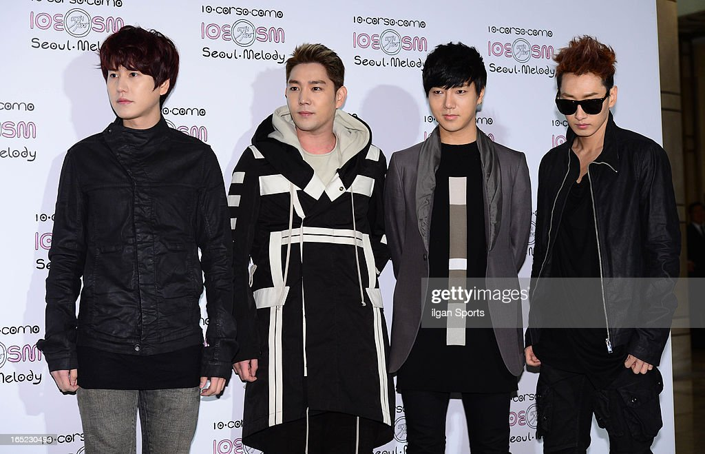 Super Junior attend the SM '10 Corso Como Seoul Melody' Launch Party on March 28, 2013 in Seoul, South Korea.