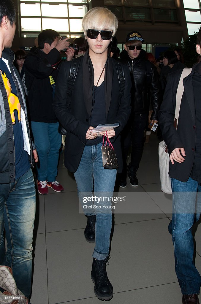 Super Junior is seen at Incheon International Airport on December 6, 2012 in Incheon, South Korea.