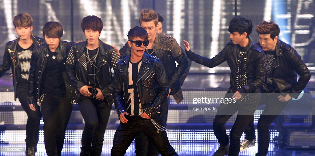 Super Junior perform during the 22nd High 1 Seoul Music Awards at Olympic Park on January 31, 2013 in Seoul, South Korea.