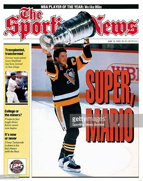 Pittsburgh Penguins Center Mario Lemieux June 15 1992 Super Mario