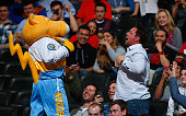 Super mascot Rocky entertains with the fans as the Denver Nuggets take on the Atlanta Hawks at Pepsi Center on March 11 2015 in Denver Colorado The...