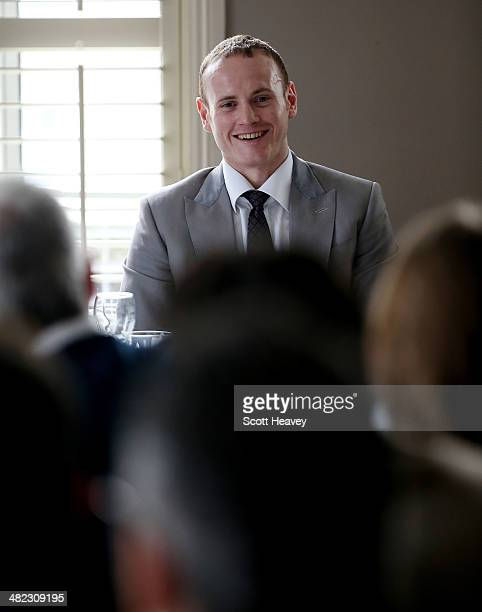 Super Middleweight boxer George Groves attends an SJA lunch on April 3 2014 in London England