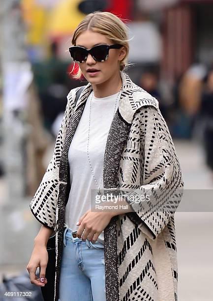 Super Model Gigi Hadid is seen walking in Soho on April 9 2015 in New York City