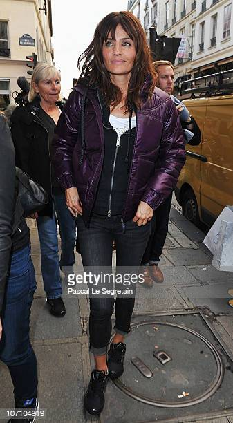Super Model Helena Christensen arrives at Colette store to attend a Reebok EasyTone event on November 24 2010 in Paris France