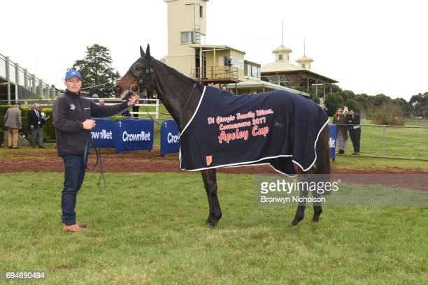 Super Mover after vwinning the Di Giorgio Family Wines Apsley Cup at Hamilton Racecourse on June 11 2017 in Hamilton Australia