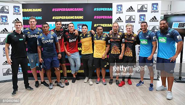 Super Rugby Players during the 2016 New Zealand Super Rugby Launch on February 16 2016 in Auckland New Zealand