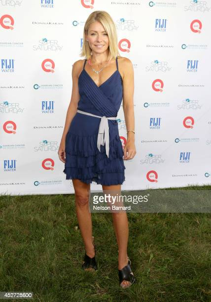 Super Saturday host Kelly Ripa attends QVC Presents Super Saturday LIVE on July 26 2014 in Water Mill City New York
