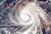 Super Typhoon Yutu, strongest storm on Earth in 2018. Satellite view. Elements of this image furnished by NASA.