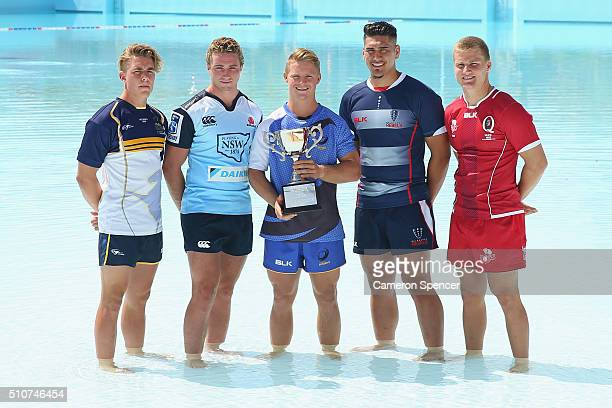 Super U20's players Jordan JacksonHope of the Brumbies Jack Hayson of the Waratahs Angus Taylor of the Force TangaroaAriki Hosea of the Rebels and...