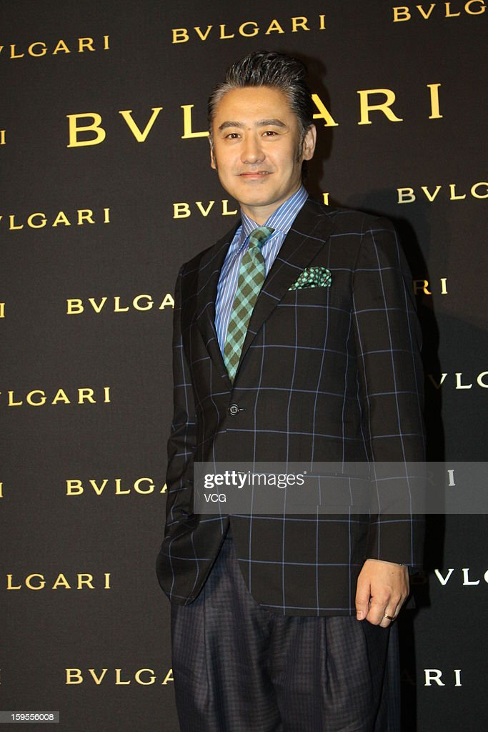 Super Wu attends the opening ceremony of Bvlgari Store on January 15, 2013 in Shanghai, China.