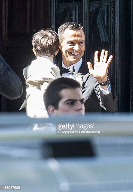 Superagent Jorge Mendes attends his wedding on August 02 2015 in Porto Portugal