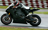 A Superbiker Racing On A Race Track