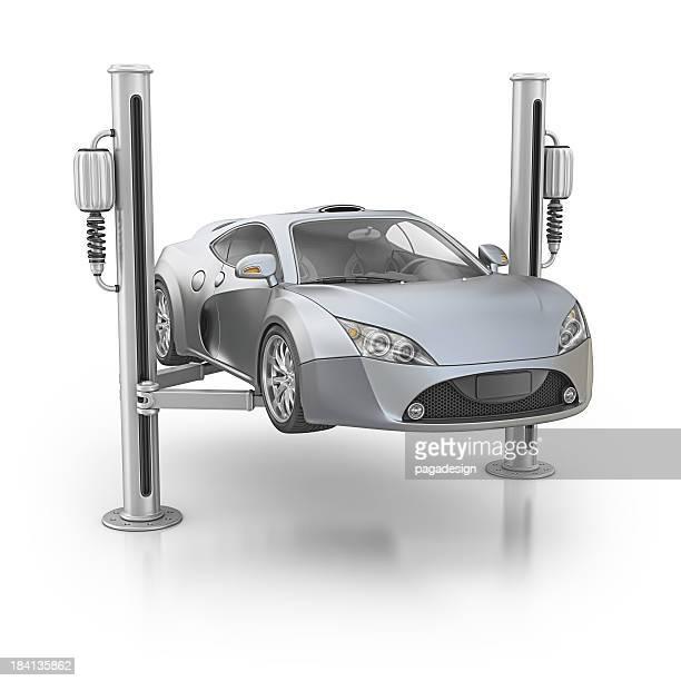 supercar and hydraulic elevetor