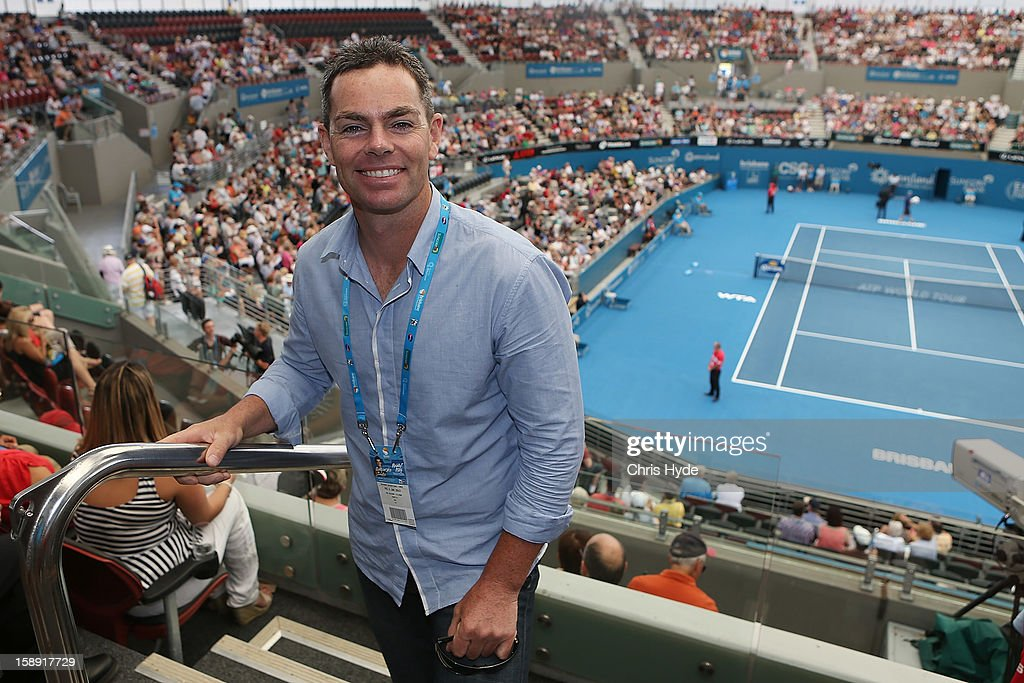 V8 Supercar driver Craig Lowndes poses for a photograph during day six of the Brisbane International at Pat Rafter Arena on January 4, 2013 in Brisbane, Australia.
