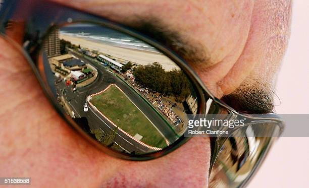 Supercar fan watches the action during qualifying for the Gillette Supercar Challenge which is round 11 of the V8 Supercar Championship Series on the...