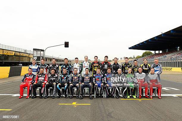 Supercars drivers pose during the 2014 V8 Supercars Championship drivers photo at Sydney Motorsport Park on February 14 2014 in Sydney Australia