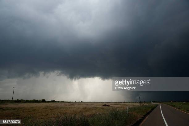 A supercell thunderstorm develops May 10 2017 in Paducah Texas Wednesday was the group's third day in the field for the 2017 tornado season for their...