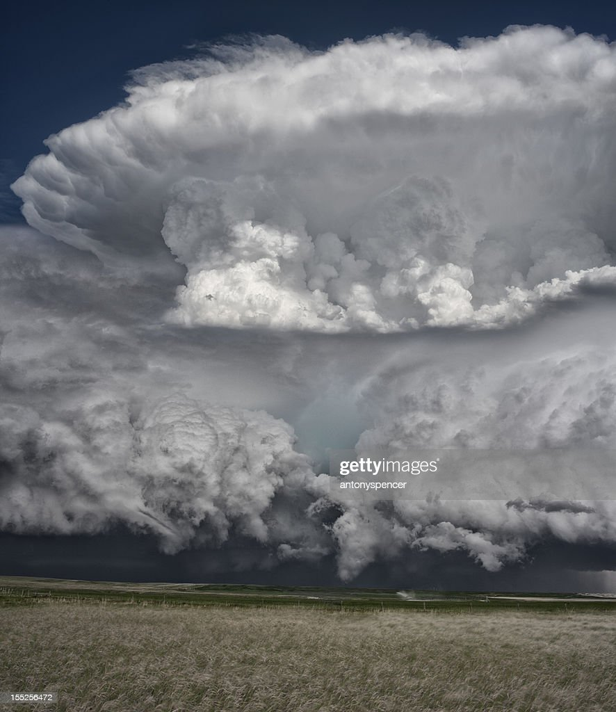 Supercell Thunderstorm on the Great Plains : Stock Photo
