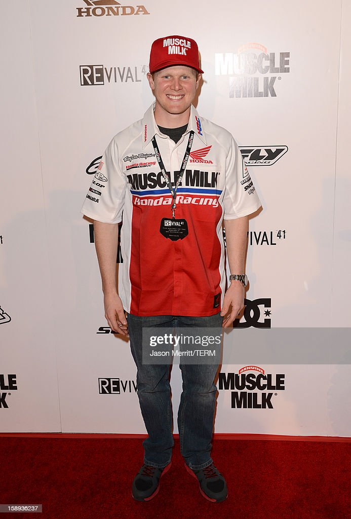 Supercross champion Trey Canard attends the Trey Canard 'REvival 41' premiere held at UltraLuxe Cinemas at Anaheim GardenWalk on January 3, 2013 in Anaheim, California.