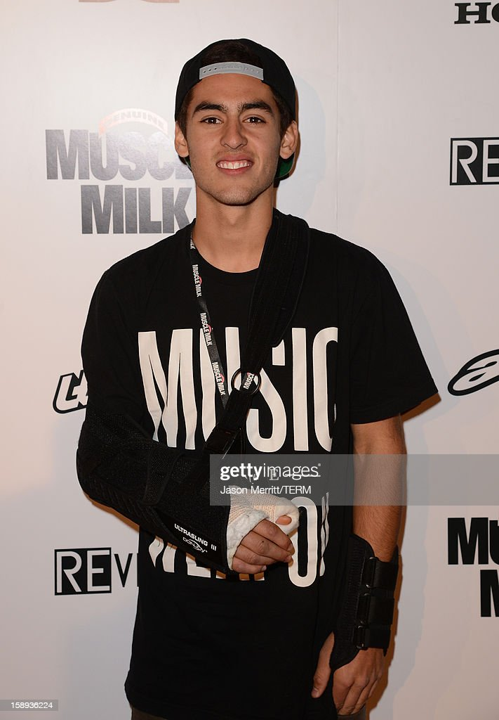 Supercross rider Justin Bogle attends the Trey Canard 'REvival 41' premiere held at UltraLuxe Cinemas at Anaheim GardenWalk on January 3, 2013 in Anaheim, California.