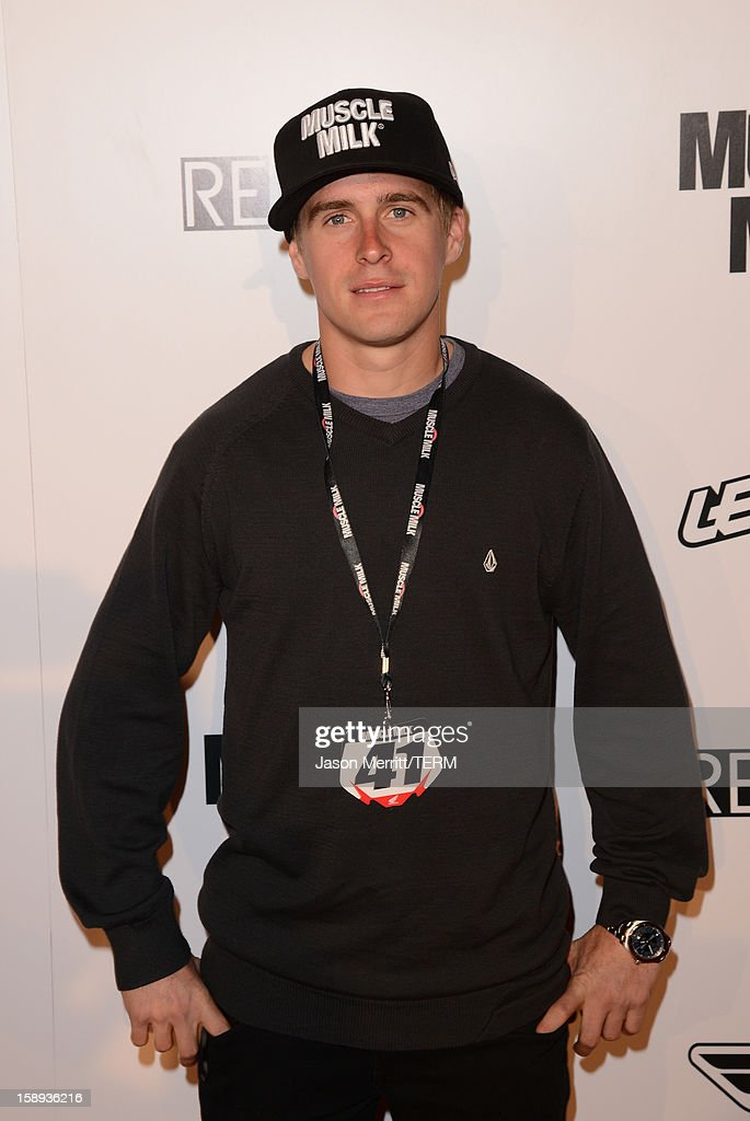 Supercross rider Wil Hahn attends the Trey Canard 'REvival 41' premiere held at UltraLuxe Cinemas at Anaheim GardenWalk on January 3, 2013 in Anaheim, California.